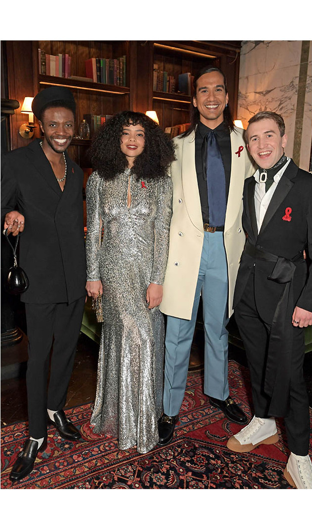 (L-R) <strong>Omari Douglas</strong>, <strong>Lydia West</strong>, <strong>Nathaniel Curtis</strong> and <strong>Callum Scott Howells</strong> attended the event.