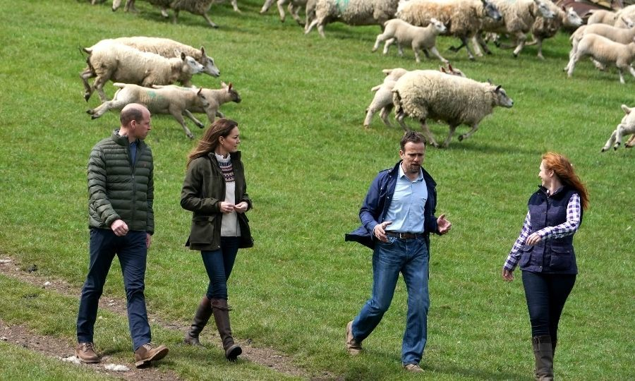 <a href=/tags/0/kate-middleton><strong>Duchess Kate</a></strong> and <a href=/tags/0/prince-william><strong>Prince William</a></strong> visited a farm in County Durham, England on April 27, and it looks like they had an amazing time!