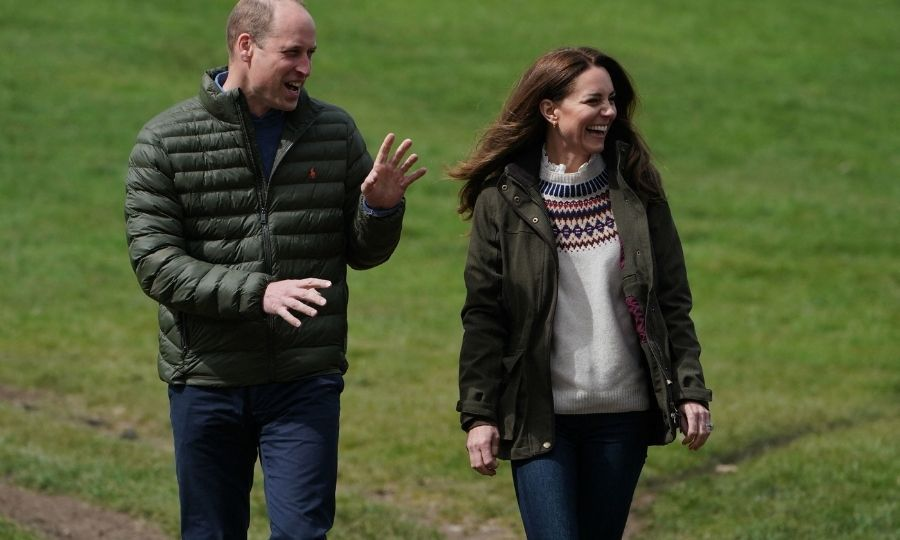 The Cambridges were all smiles as they arrived at the farm, and were dressed casually and very stylishly for the occasion, too!