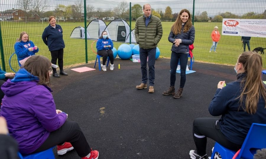 Later in the day, the Cambridges visited the Cheesy Waffles Project, which lets youth with disabilities learn skills they need for adulthood.