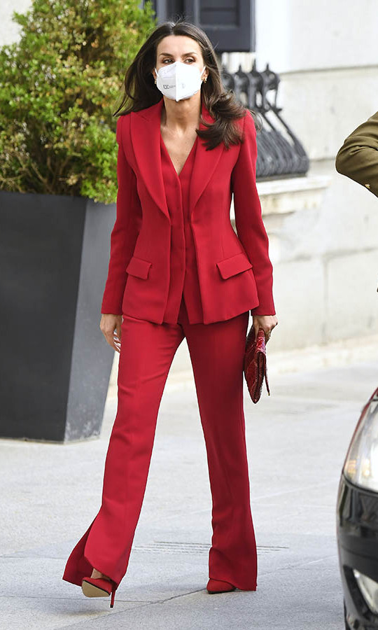Queen Letizia turned heads in all red as she stepped out to the Clara Campoamor Tribute at Congress on April 12 in Madrid.