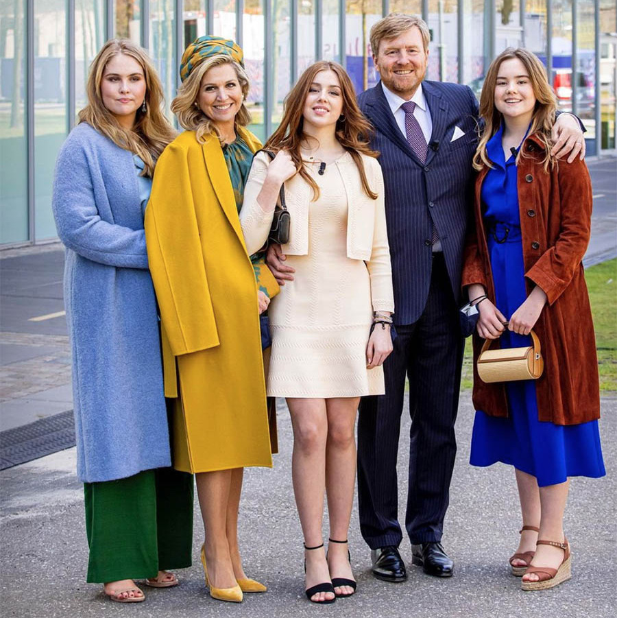 Earlier that day the <a href=/tags/0/dutch-royals><strong>Dutch royals</strong></a>, wowed in colourful outfits for King's Day celebrations in Eindhoven. They are such a stylish family!