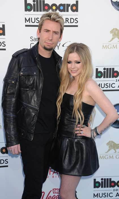 Chad Kroeger and fiancée Avril Lavigne