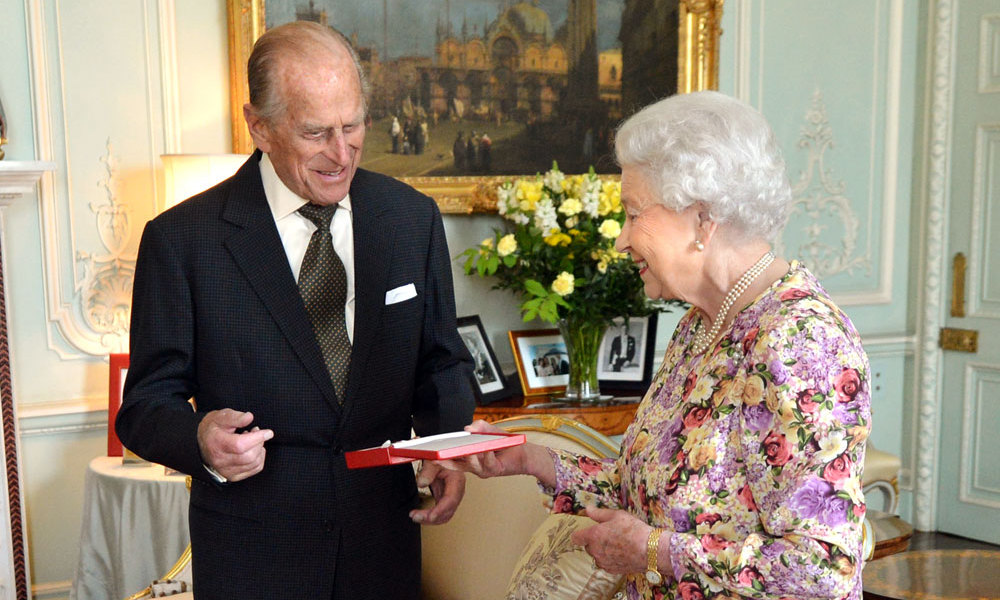 The Queen invested her husband with his Additional Member of the Order of New Zealand award in a ceremony at Buckingham Palace