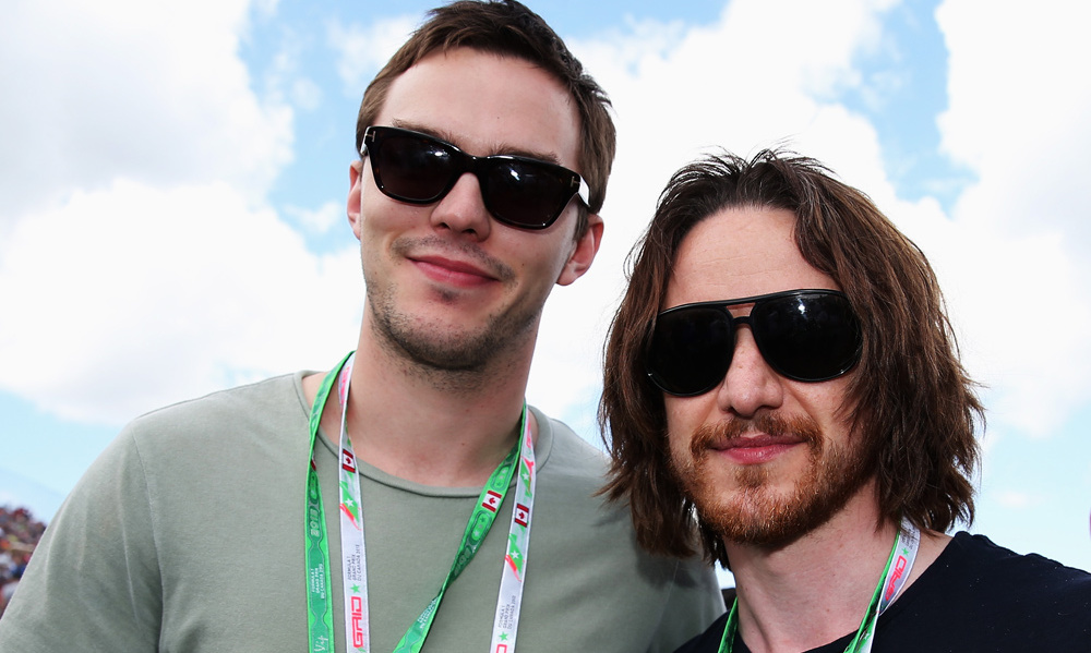 Nick Hoult and James McAvoy
