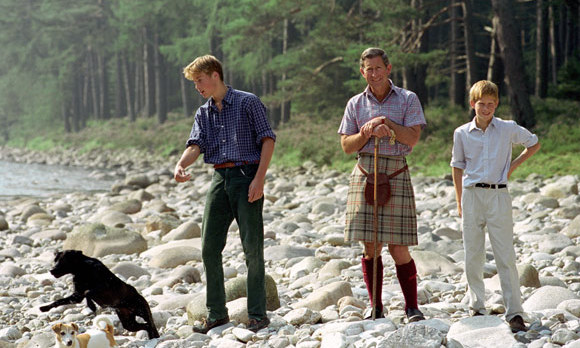 After their divorce Charles would take their sons on holiday in Scotland.  This image was taken on 16 August, 1997 just before their lives changed forever with the death of Princess Diana.