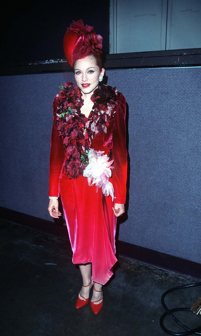 At the L.A. premiere of Evita, 1996.
