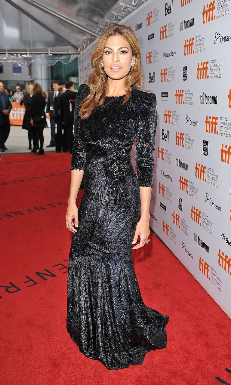 "Actress Eva Mendes attends ""Last Night"" premiere at Roy Thomson Hall during the 2010 Toronto International Film Festival."