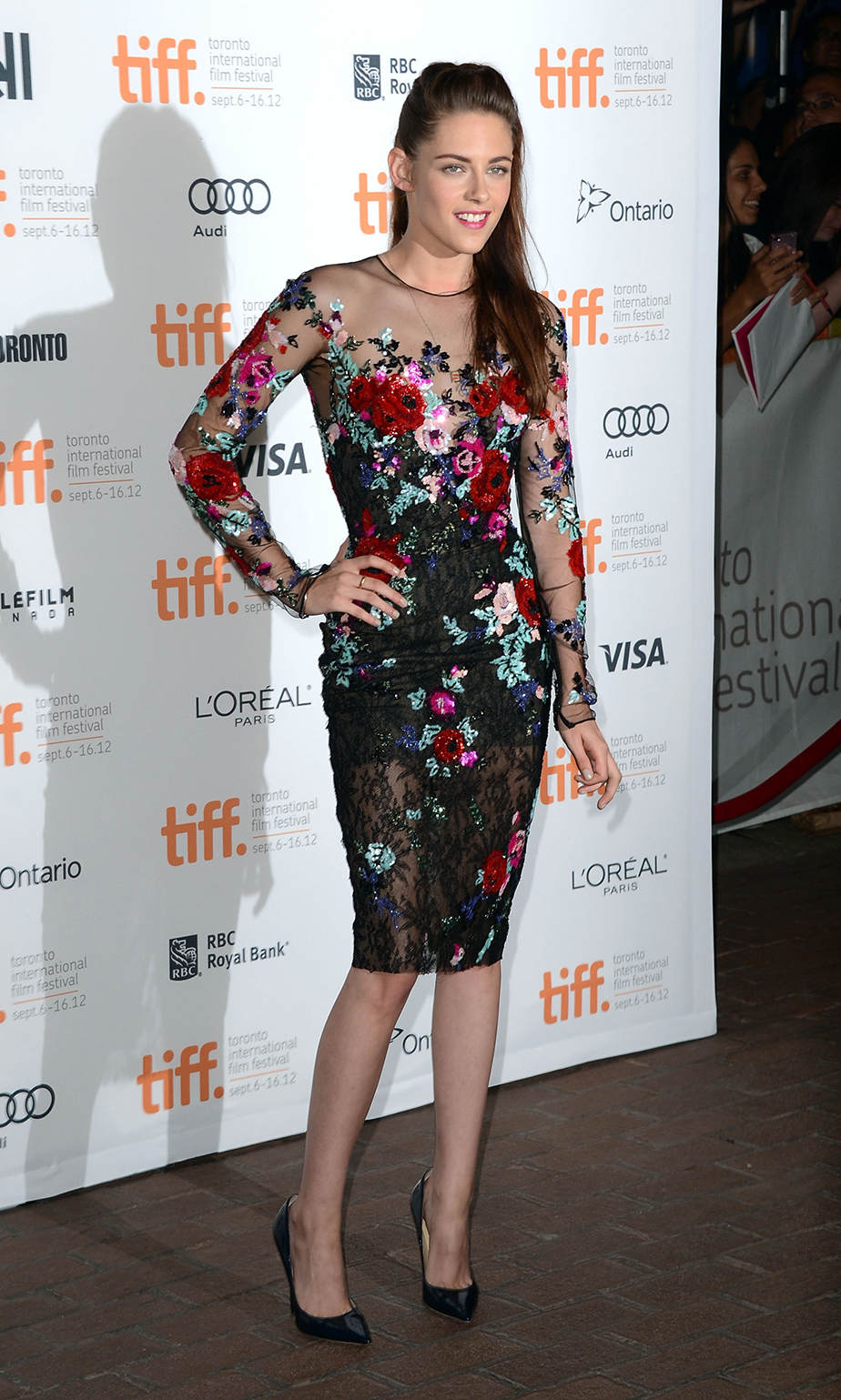 "Actress Kristen Stewart attends the ""On The Road"" premiere during the 2012 Toronto International Film Festival."
