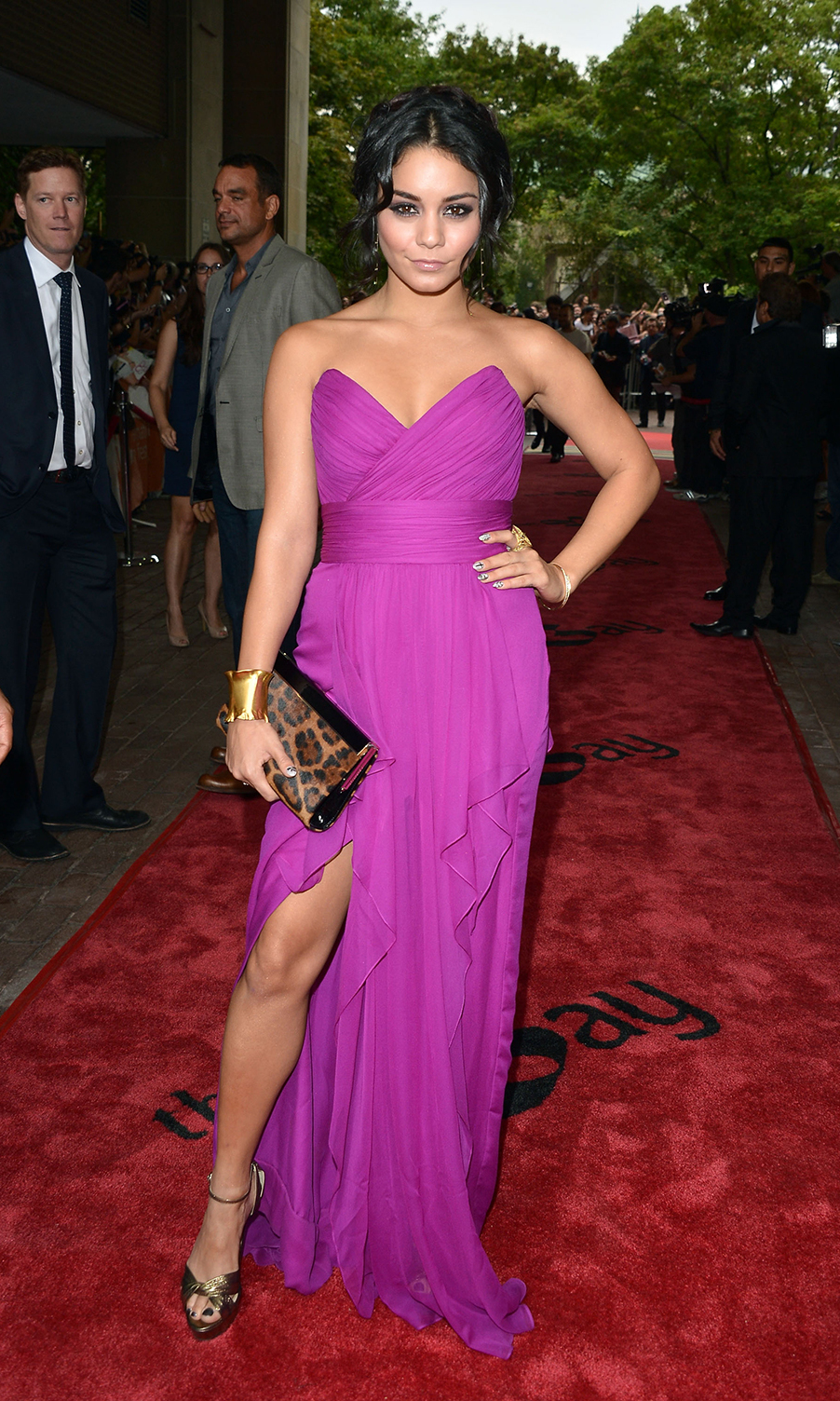 "Actress Vanessa Hudgens attends the ""Spring Breakers"" premiere at Ryerson Theatre during the 2012 Toronto International Film Festival."