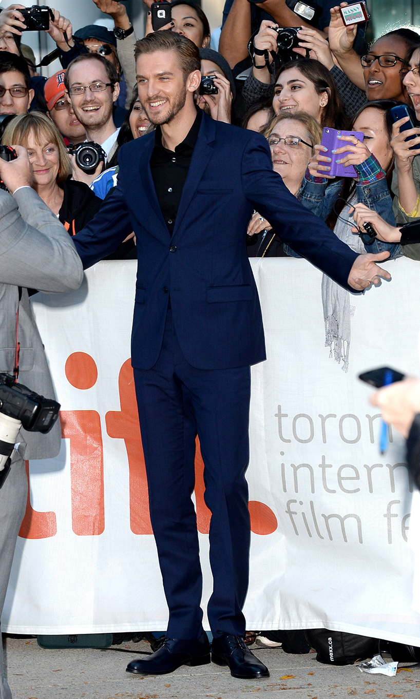 Actor Dan Stevens at the The Fifth Estate premiere at the 2013 Toronto International Film Festival.