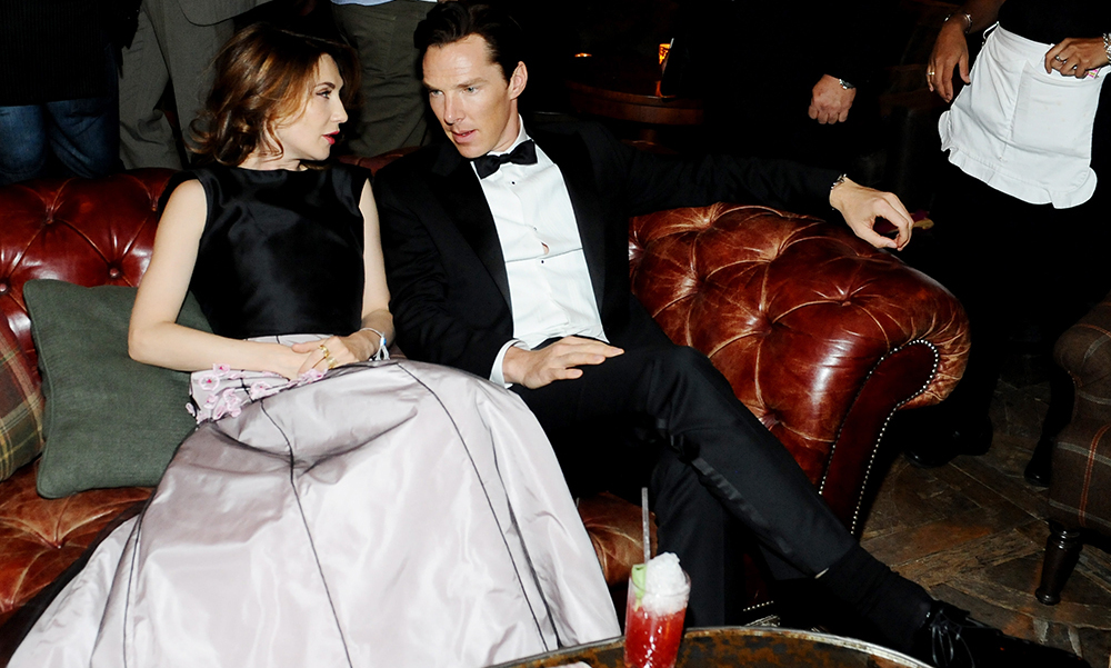 Actors Carice Van Houten and Benedict Cumberbatch at the Grey Goose Soho House at the 2013 Toronto International Film Festival.