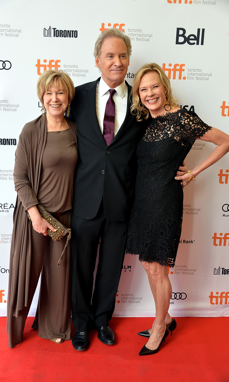 Actors Mary Kay Place, Kevin Kline and JoBeth Williams at the The Big Chill premiere at the 2013 Toronto International Film Festival.