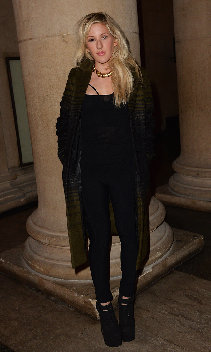 Ellie Goulding attends the Jonathan Saunders show during London Fashion Week SS14 at Tate Britain on September 15, 2013 in London, England.