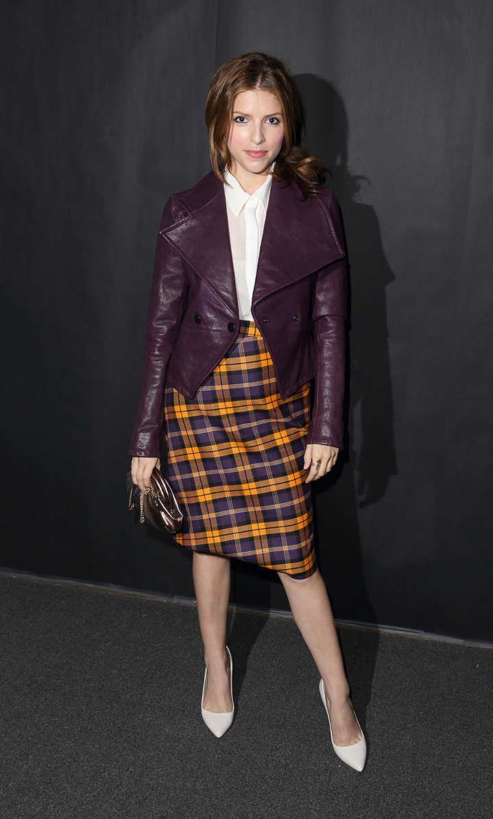Anna Kendrick attends the Vivienne Westwood show at London Fashion Week SS14 on September 15, 2013 in London, England.