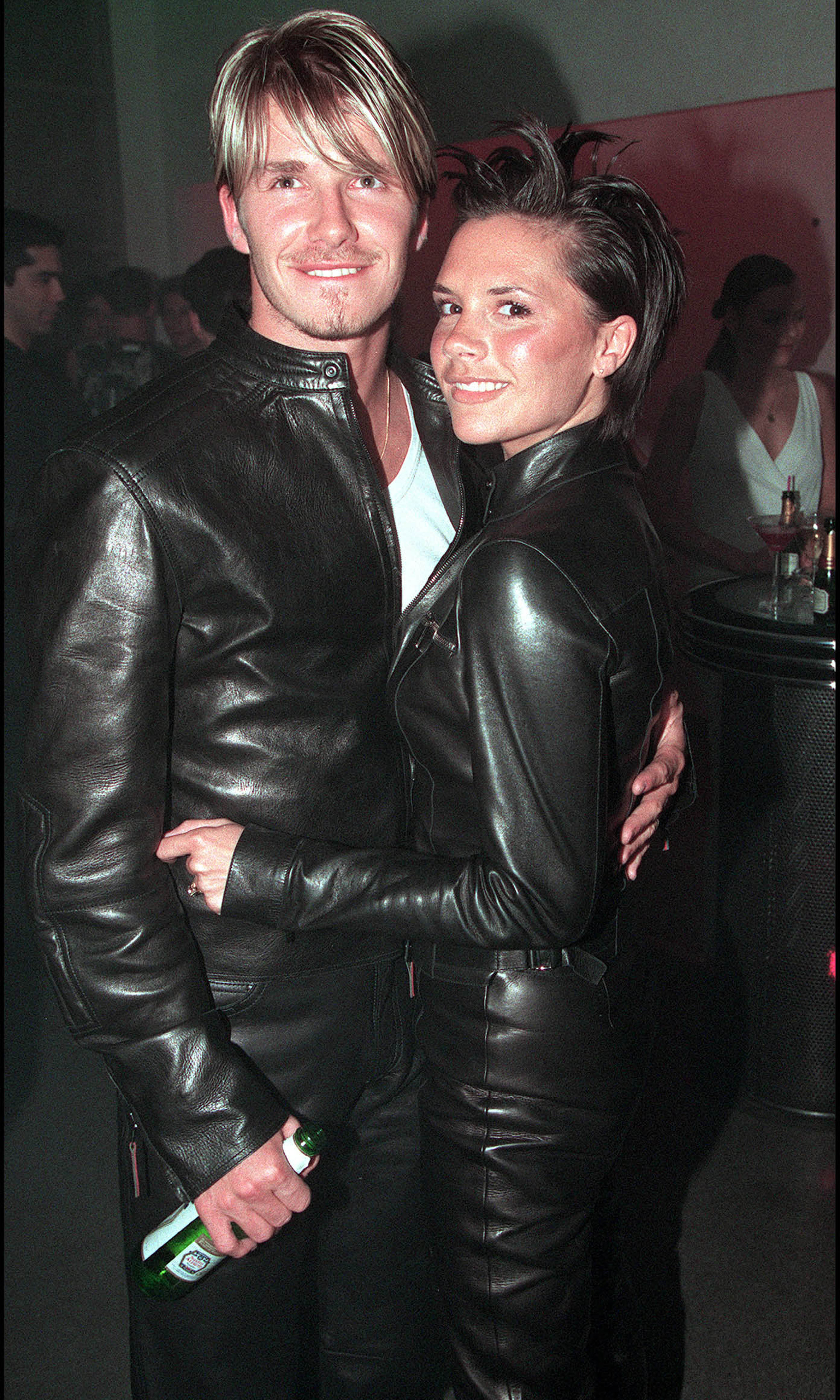 "Oh yes, they've done it before. And they'll do it again and again. This is definitely our favourite David and Victoria Beckham pairing: leather Versace. ""I look back and am like, 'What were we thinking?'"" David told H&M magazine last year."