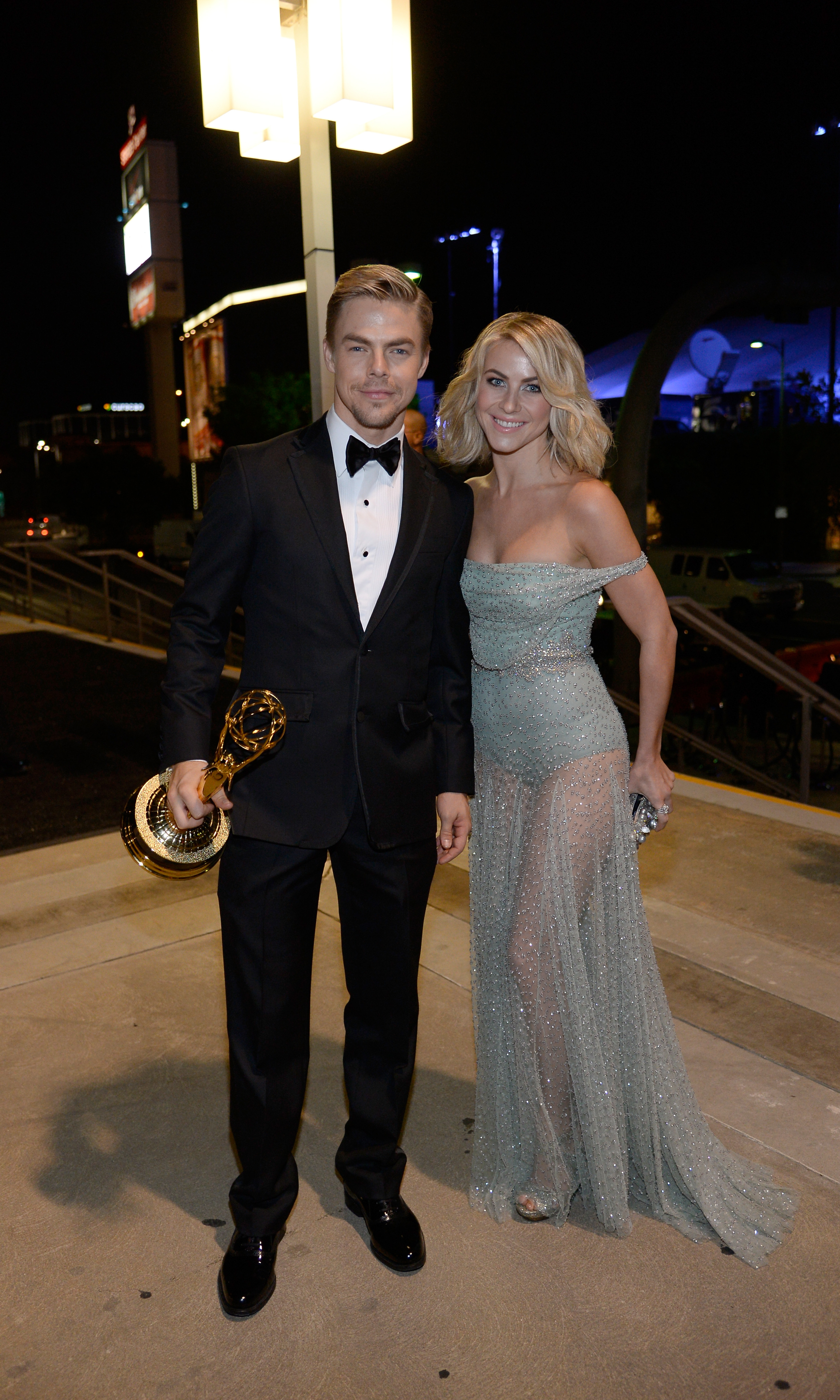 Stunning siblings Derek and Julianne Hough celebrate Derek's Best Choreography Award for 'Dancing With The Stars' at the Governor's Ball.