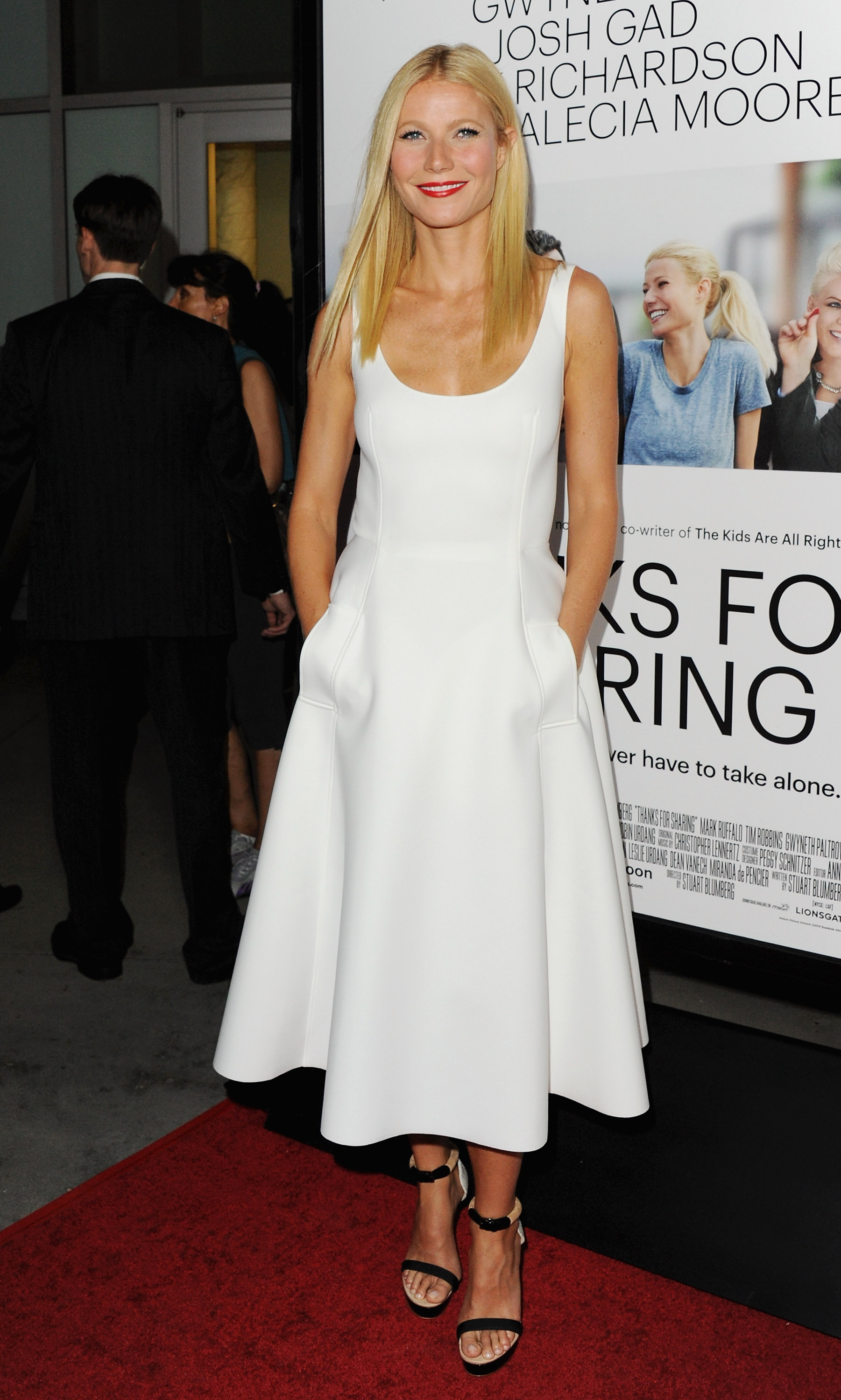 Gwyneth Paltrow in Lanvin at the Thanks For Sharing premiere.