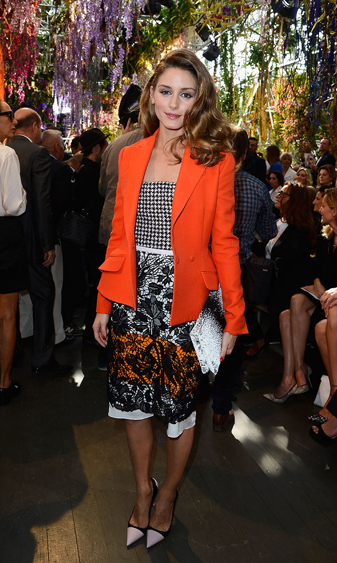 Olivia Palermo attends the Christian Dior show as part of the Paris Fashion Week Womenswear Spring/Summer 2014 at Musee Rodin on September 27, 2013 in Paris, France.