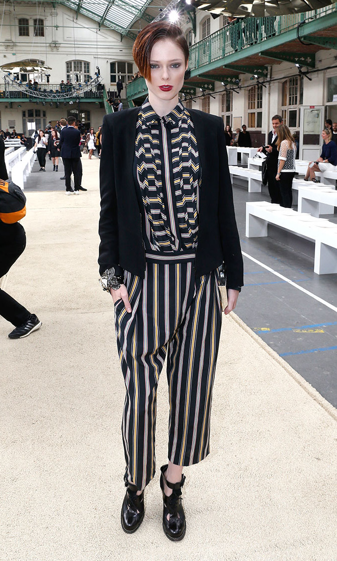 Model Coco Rocha attends the Chloe show at Lycee Carnot on September 29, 2013 in Paris, France.