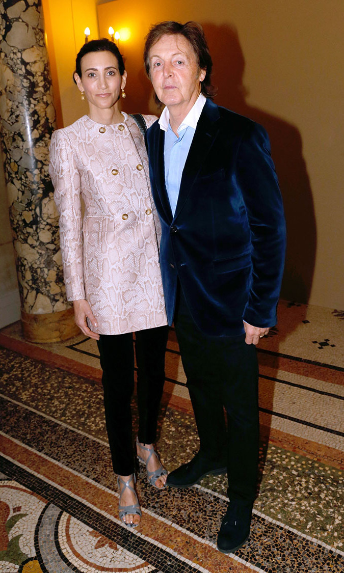 Singer Paul McCartney and his wife Nancy Shevell attend Stella McCartney show as part of the Paris Fashion Week Womenswear  Spring/Summer 2014, held at Opera Garnier on September 30, 2013 in Paris, France