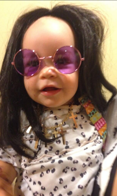 The princess of darkness: Jack Osbourne shared this adorable photo of his daughter on Twitter. Isn't she the cutest mini Ozzy?
