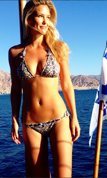 "Tough life! Supermodel Bar Rafaeli uploaded this incredible bikini photo to her Instagram account, with the caption ""Israeli waters + Jordanian mountains = perfect weekend."""
