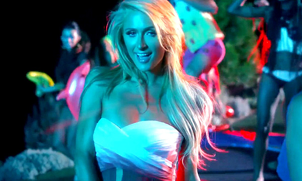 Paris Hilton's video for 'Good Time' featured the singer wearing a number of bikinis and dancing at a rave-inspired pool party.