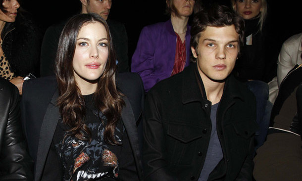 Liv Tyler and Theo Wenner, then a couple with Liv 10 years the Rolling Stone magazine heir's senior, at the Givenchy show in Paris in 2011.