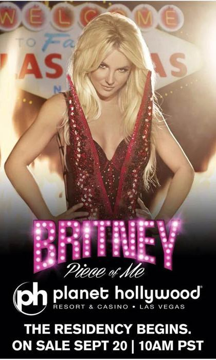 Britney Spears in the poster for her Las Vegas residency in 2014 at Planet Hollywood.