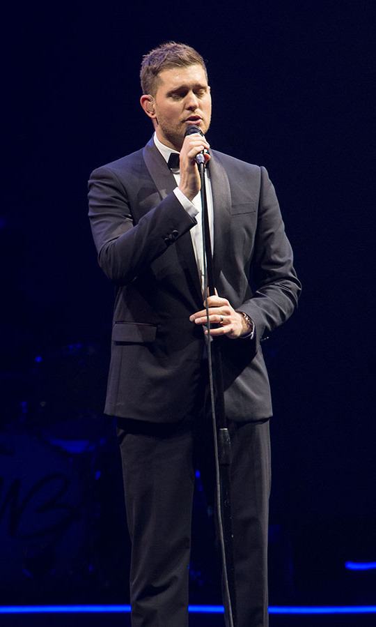 Michael Buble in concert in Brooklyn in Sept. 2013.