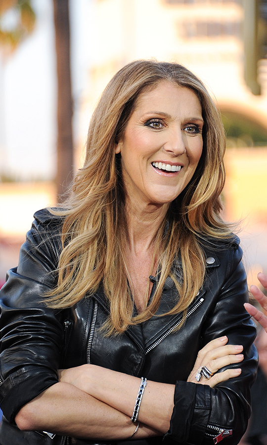 "Celine Dion on ""Extra"", Sept. 2013."