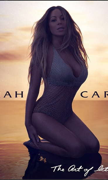"Mariah Carey strikes a sultry pose for the cover art for her new single cover art for her new single ""The Art Of Letting Go,"" due out on Nov. 11."