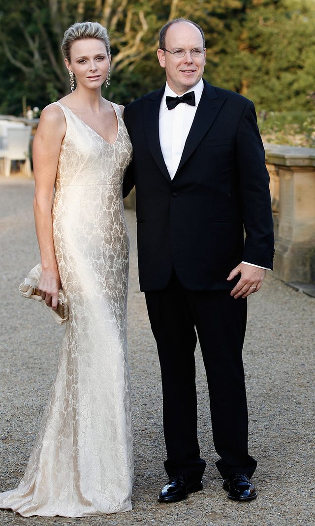 Charlene shimmered in a cream-coloured gown with plunging neckline as she attended a ball with her husband on Sept. 4, 2011 in Leeds, England.