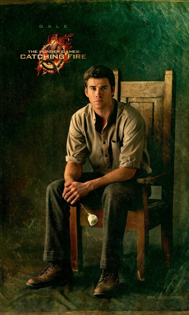 GALE HAWTHORNE (Liam Hemsworth): Now working in the coalmines, Gale continues a semi-romantic friendship with Katniss, which is complicated by the fact that Katniss must pretend to be in love with Peeta.
