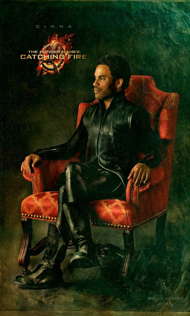 CINNA (Lenny Kravitz): A personal stylist and a supporter of the rebellion, Cinna acts as a friend and mentor to Katniss – and is responsible for her ever-more-fabulous Hunger Games looks.