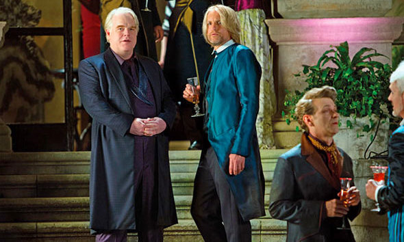 PLUTARCH HEAVENSBEE (Phillip Seymour Hoffman): Plutarch is the new Head Gamemaker in 'Catching Fire,' replacing Seneca Crane, who was played by Wes Bentley in the first film.