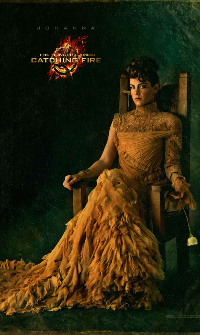 "JOHANNA MASON (Jena Malone): The steely, sarcastic victor from District 7, Johanna is described by Katniss as someone with a ""wicked ability to murder."""