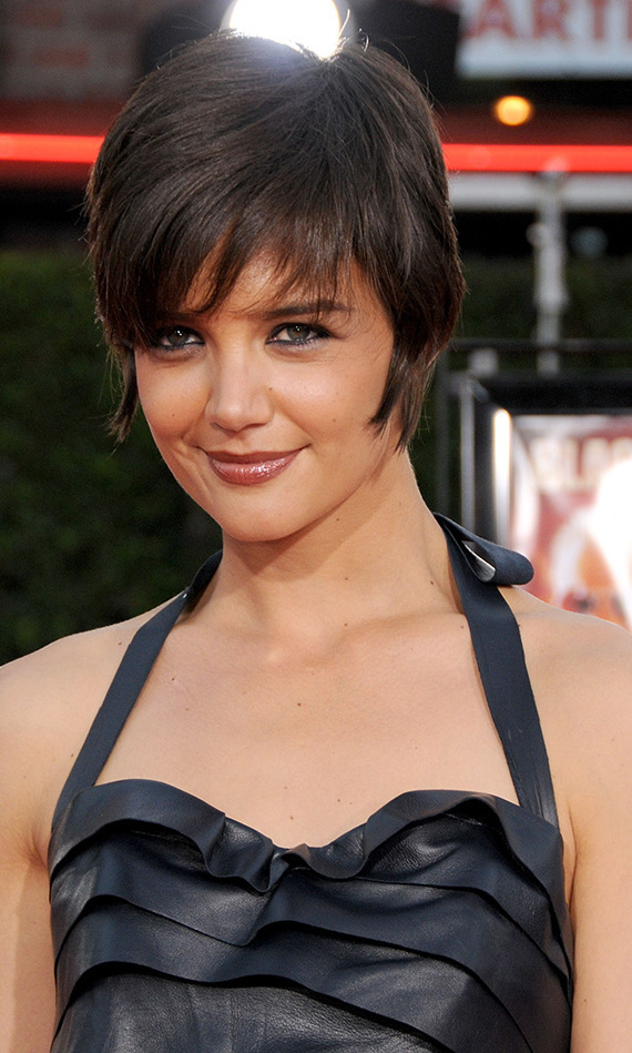Katie Holmes, then Mrs. Tom Cruise, sparked a major bob trend in 2007 and followed it up by inspiring a wave of pixie cuts in 2008. Here, she accompanied her man to the premiere of 'Tropic Thunder' at Mann's Village Theatre in Los Angeles.