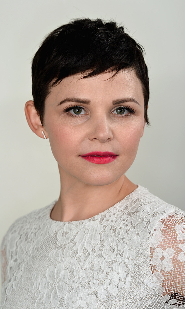 "Ginnifer Goodwin grew up with short hair, growing it out for the sake of improving her chances in Hollywood, but once she realized she could wear wigs, off it came! ""I find it hard to express myself when I'm growing out a very bad character haircut,"" the 'Once Upon A Time' actress told 'Elle.' Whether she's walking a red carpet or posing for a photo at the 2012 Young Hollywood Awards (left), the newly pregnant star's pixie is here to stay."