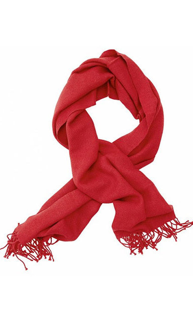 Red Alpaca Scarf, $100