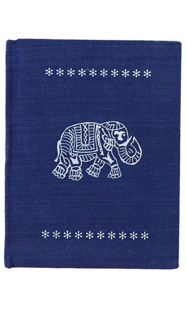 Block Print Elephant Journal, $18