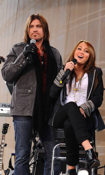 "While Billy Ray was filming the series 'Doc' in Canada, Miley decided she wanted to follow in her famous father's footsteps. Trying to dissuade her, he told her, ""Enjoy being a kid. There is too much heartache to mess up your childhood."" Unsuccessful in his attempt, however, her parents gave in and father and daughter have performed together on plenty of occasions since."