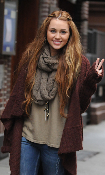 Shortly after turning 18, Miley took a yearlong break from entertainment to focus on the next stage of her career. Here she is pictured in February 2011, still wearing her hair long and brunette…