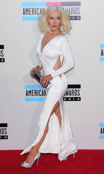 Channeling old Hollywood glamour at the American Music Awards on Nov. 24, Christina Aguilera flaunted her incredible figure in a white gown with sexy cutouts.