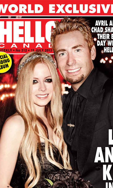 AVRIL LAVIGNE AND CHAD KROEGER: The Canadian fairytale wedding of the year saw Avril Lavigne marry Chad Kroeger in a romantic ceremony in the south of France, which was covered exclusively by HELLO! in July.