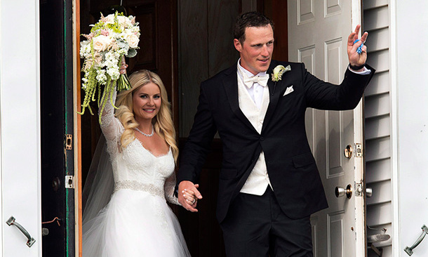 ELISHA CUTHBERT AND DION PHANEUF: Elisha Cuthbert and Toronto Maple Leafs caption Dion Phaneuf were wed in a romantic, star-studded Prince Edward Island ceremony this past summer, as a slew of A-listers and sports stars watched on from the maple leaf-strewn pews.