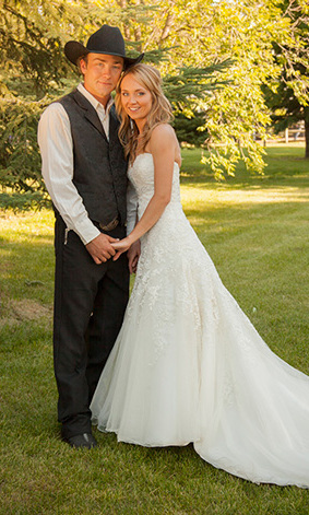 AMBER MARSHALL AND SHAWN TURNER: She's known to 'Heartland' fans as horse whisperer Amy Fleming, but 25-year-old Amber Marshall tied the knot before her character on the popular family-oriented CBC drama, marrying her boyfriend of three years, photographer Shawn Turner, 26.
