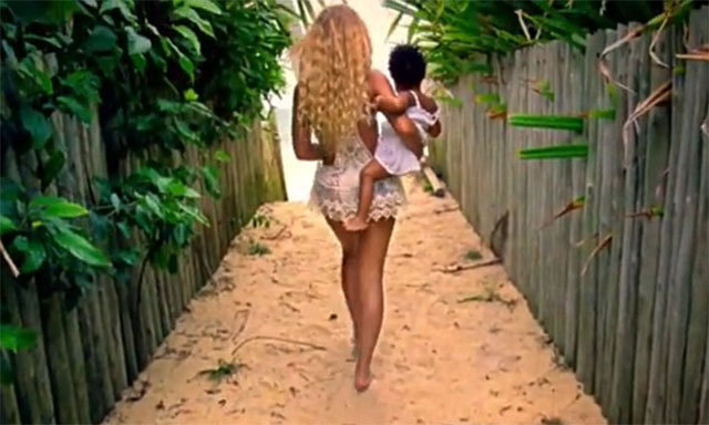 Beyoncé and Jay-Z's pride and joy -- who turns two on January 7 -- stars in the newly-released single Blue (Featuring Blue Ivy) off her visual self-titled album. Watch a sneak peak for the video on Youtube.com/Beyonce.