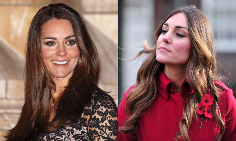 After she was spotted wiht noticeable roots on an official outing in October, Kate Middleton soon emerged with a new, elegant dark chocolate hued 'do.     Photo: © Getty Images